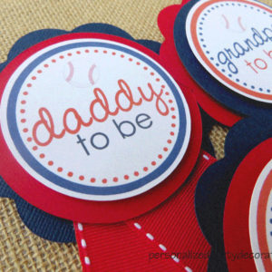 baseball baby shower mom to be pin