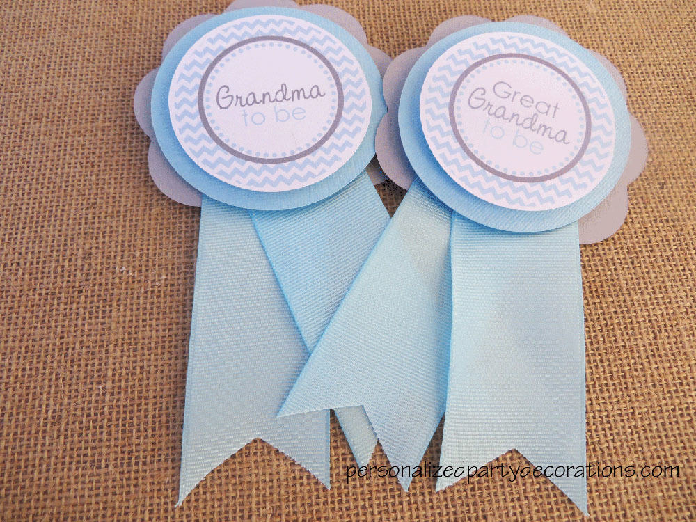 Chevron baby shower mom to be pin - Baby shower chevron decorations ...