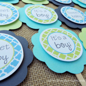 quatrefoil baby shower cupcake toppers (2)