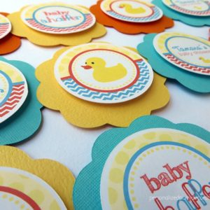 rubber ducky baby shower cupcake topper
