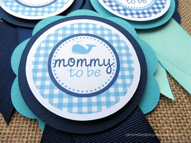 whale mommy to be pin
