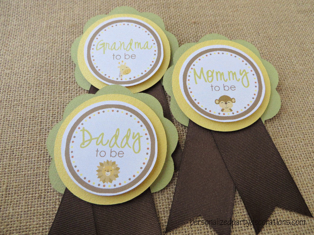 Jungle Baby Shower Mom To Be Pin