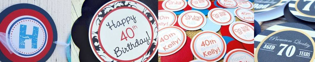 adult male birthday party decorations