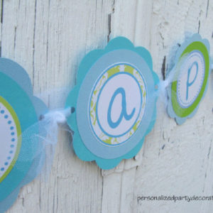 baptism party banner