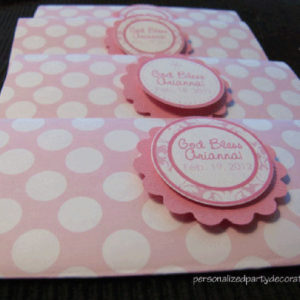 polka dot baptism candy bar wrappers