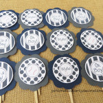 baseball theme baby shower cupcake toppers