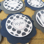 baseball baby shower cupcake toppers