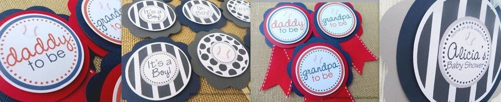 baseball baby shower decorations