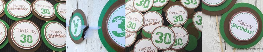 dirty 30 birthday party decorations