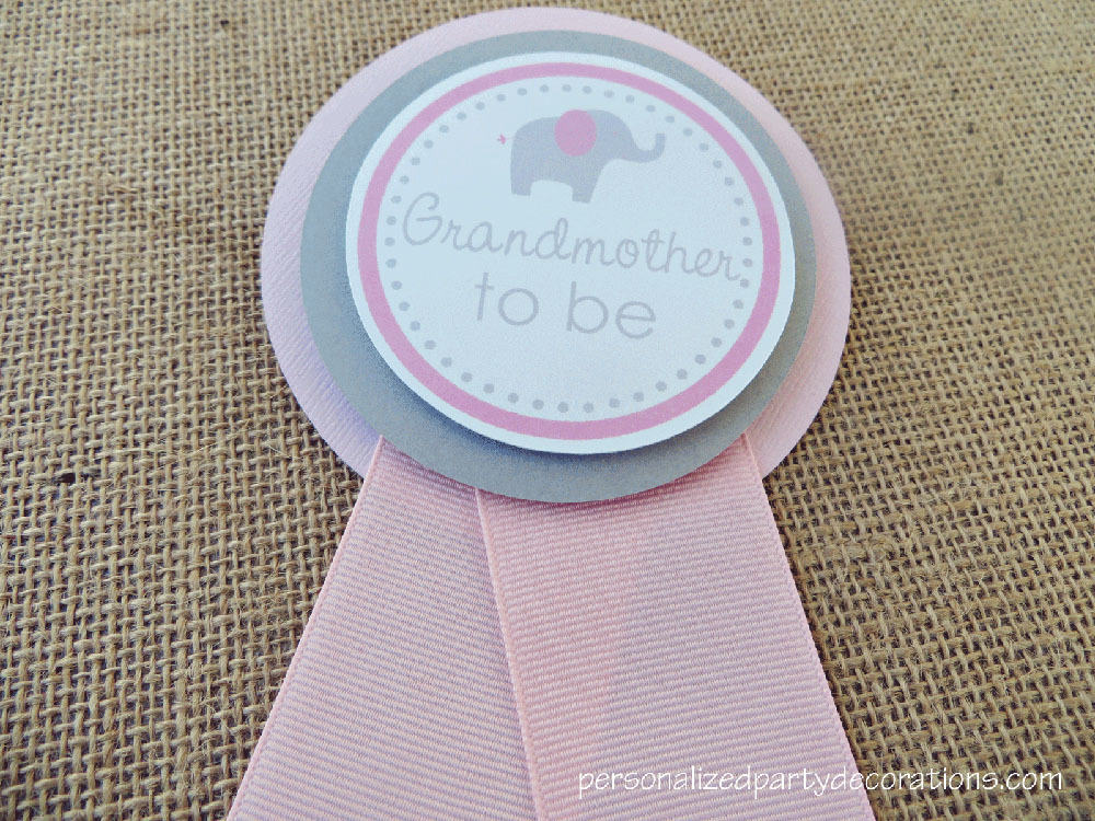 Elephant Baby Shower Mom To Be Pin