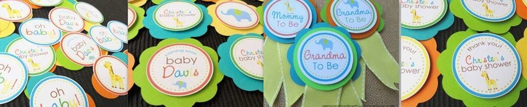 giraffe & elephant baby shower decorations