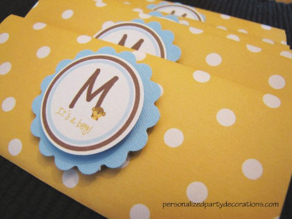 monkey baby shower candy bar wrapper