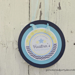 star baby shower door sign