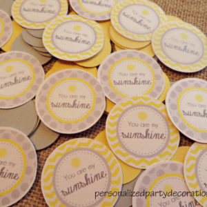 you are my sunshine baby shower table confetti