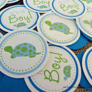 turtle baby shower confetti