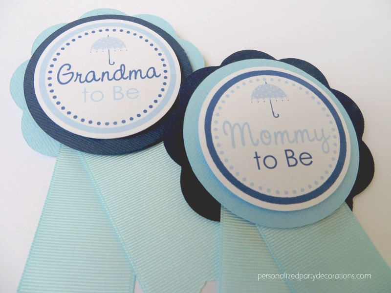 Boy April Showers Baby Shower Mom To Be Pin