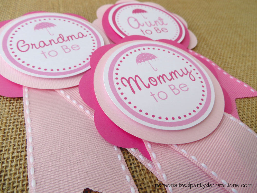 ... Umbrella Mom To Be Baby Shower Pins ...