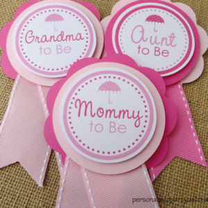 april showers mom to be baby shower pin
