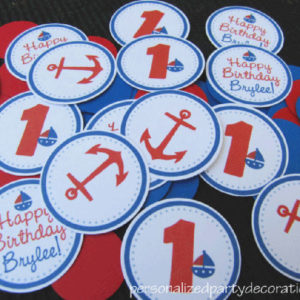 nautical theme birthday party confetti