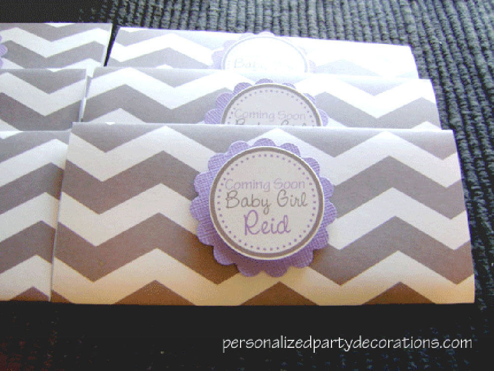 Chevron Baby Shower Hershey Bar Wrappers