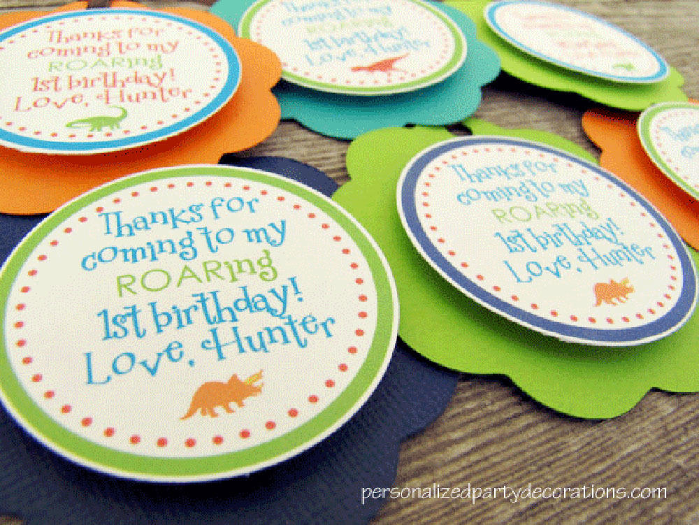 Dino Birthday Party Favor Tags