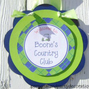 golf birthday party door sign