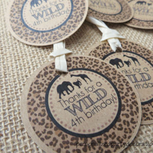 jungle theme birthday favor tag