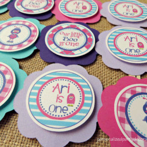 Monster Birthday Party Cupcake Toppers