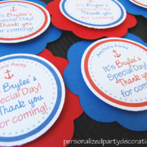 Nautical Birthday Favor Tags