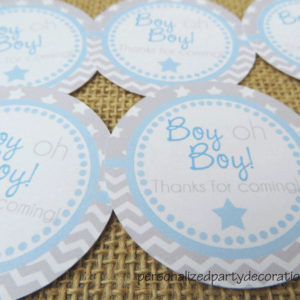 star baby shower sticker