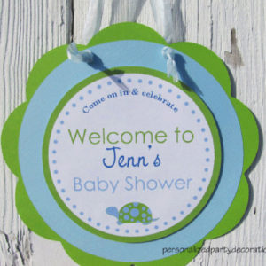 Door Sign Turtle Theme Baby Shower