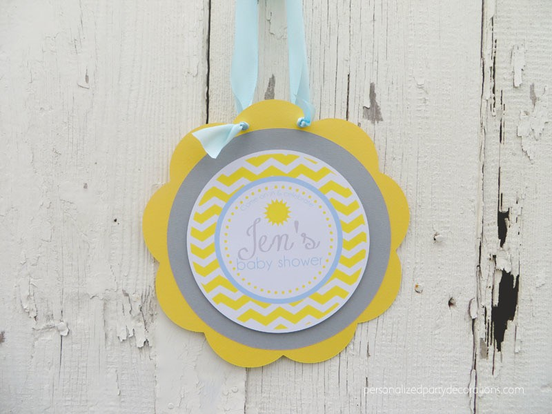 You Are My Sunshine Baby Shower Door Sign
