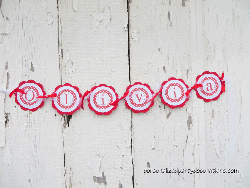 american girl birthday party name banner