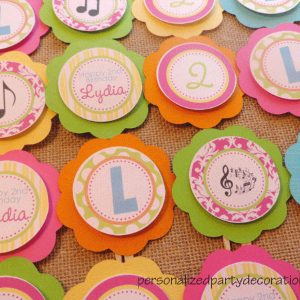 Music Birthday Party Cupcake Toppers