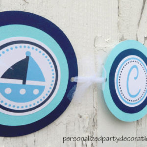 sailboat baby shower name banner