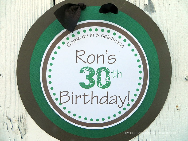 30th birthday party door sign