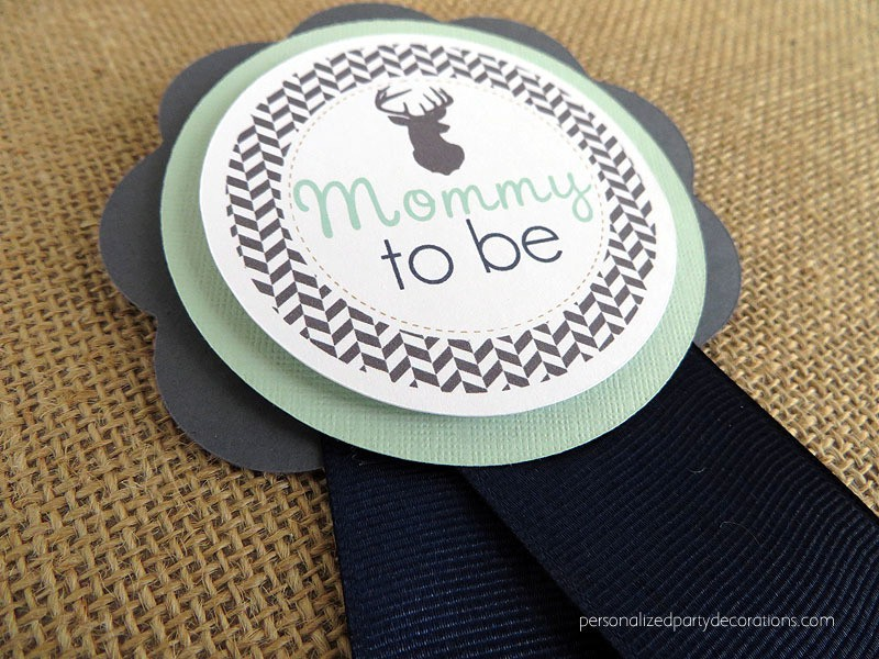 antler mom to be pin