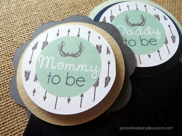 antler to be baby shower pin