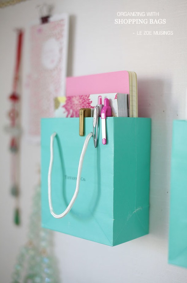 DIY-Back-to-School-Projects-for-Teens-and-Tweens-Use-your-favorite-SHOPPING-BAGS-to-make-Do-it-Yourself-organizers-for-your-bulletin-board-or-Locker-FUN-