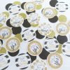 kate spade inspired black and gold confetti