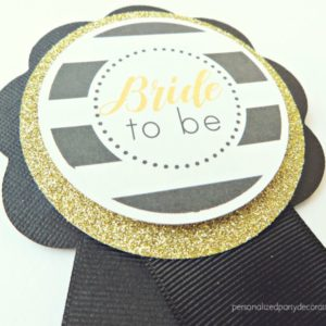 Black And White Bride to be pin