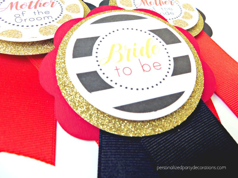 Black Gold And Red Bride To Be Pin