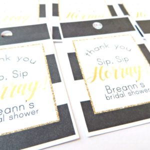 Black and Gold Bridal Shower Favor Tags