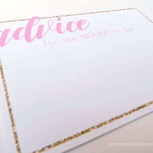 Journey Collection Baby Shower Advice Cards