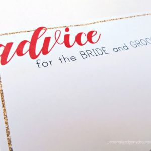 Bridal Shower Advice Cards Journey Collection