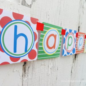 Pool Theme Happy Birthday Banner