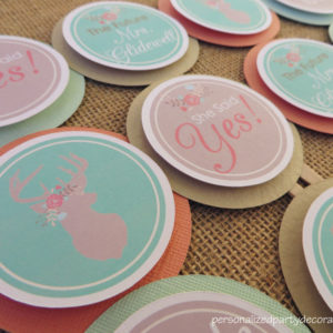 boho bridal shower cupcake toppers