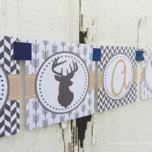 deer shower banner