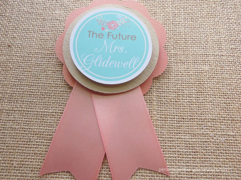Floral Future Mrs. To Be Bridal Shower Pin