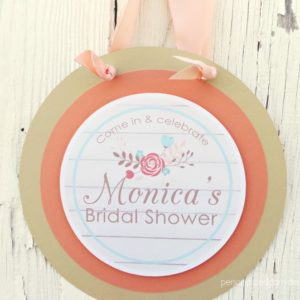 Boho Bridal Shower Door Sign
